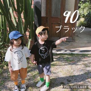 即納 韓国子供服 チャーリーブラウン 90 韓国こども服 半袖 Tシャツ