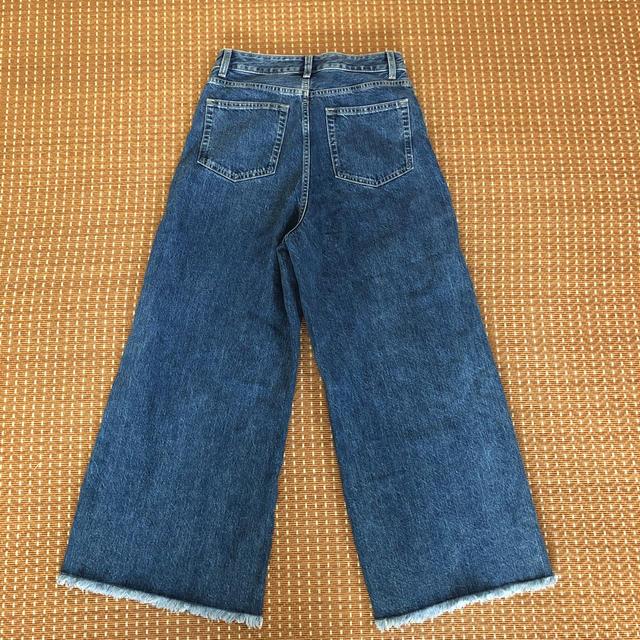 GU(ジーユー)のGUデニムワイドパンツ《専用》 レディースのパンツ(デニム/ジーンズ)の商品写真