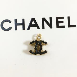 CHANEL - 正規品 シャネル ペンダント ゴールド ココマーク ブラックストーン ネックレス