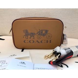 COACH - コーチ 新品 ブラウン ジェス  クロスボディ カメラバッグ ショルダーバッグ