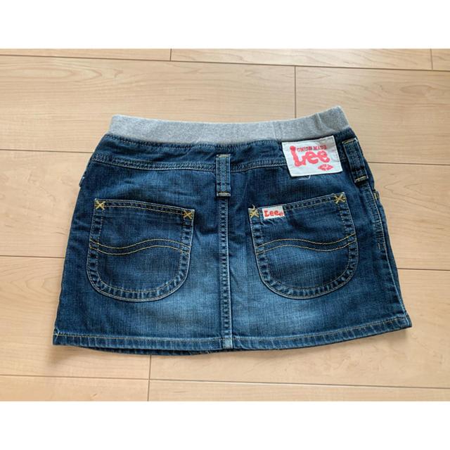 Lee(リー)のLee❁︎キッズデニムスカート インディゴ キッズ/ベビー/マタニティのキッズ服女の子用(90cm~)(スカート)の商品写真