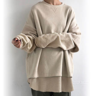 TODAYFUL - TODAYFUL☆Layered Cotton Sweat/アイボリー