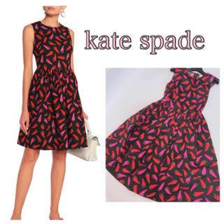 ケイトスペードニューヨーク(kate spade new york)のkate spade✨人気唐辛子デザインワンピース♡(ひざ丈ワンピース)
