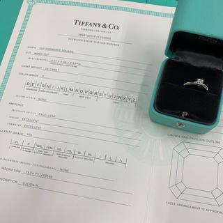 Tiffany & Co. - ティファニー 0.25ct ダイヤ リング プラチナ 8号