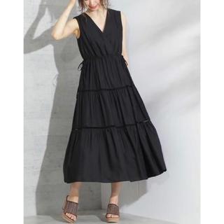 PROPORTION BODY DRESSING - プロポーション ボディドレッシング ティアードドレス ロングワンピース ブラック