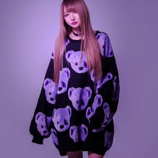 ミルクボーイ(MILKBOY)のTRAVAS TOKYO  BEAR FACES 総柄 プルオーバーニット新品(ニット/セーター)