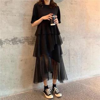 dholic - 韓国ファッション ★ チュールスカート ロングワンピ