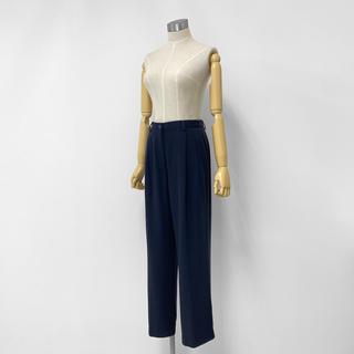 ヨウジヤマモト(Yohji Yamamoto)のヴィンテージ オールド ワイド スラックス パンツ Mサイズ 紺 ネイビー(カジュアルパンツ)