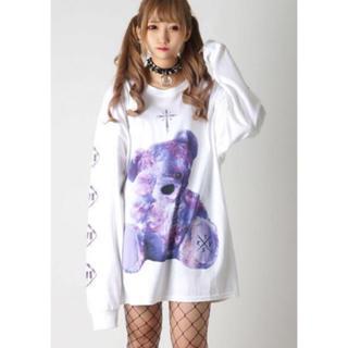 ミルクボーイ(MILKBOY)のTRAVAS TOKYO FURRY BEAR ビッグロングTシャツ White(Tシャツ/カットソー(七分/長袖))