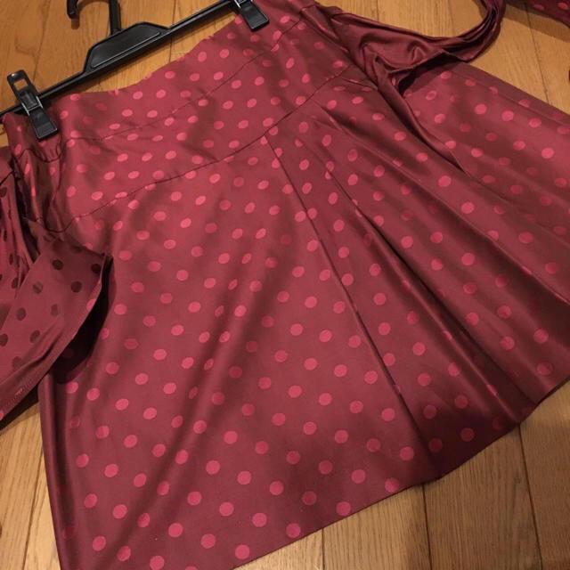 JaneMarple(ジェーンマープル)の新品 ジェーンマープル ドットジャガード スカート Jane Marple レディースのスカート(ひざ丈スカート)の商品写真
