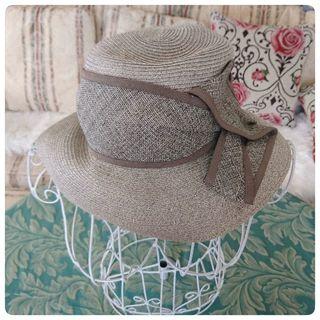 美品◆ムーンバットgravure◆リボン ハット 帽子