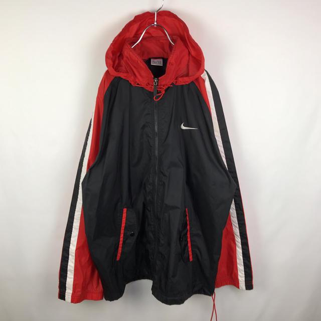 NIKE(ナイキ)のナイキ ナイロンジャケット 90s バックロゴ スウッシュ マルチカラー メンズのジャケット/アウター(ナイロンジャケット)の商品写真