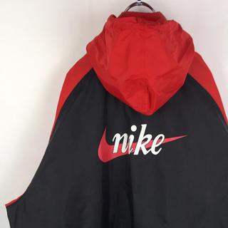 NIKE - ナイキ ナイロンジャケット 90s バックロゴ スウッシュ マルチカラー