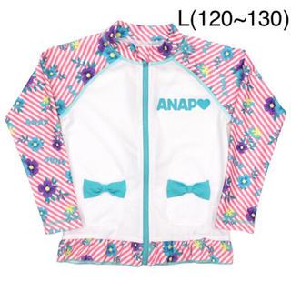 アナップキッズ(ANAP Kids)の新品 ANAPKIDS☆L ロゴ 花柄 ラッシュガード 水着 アナップキッズ(水着)