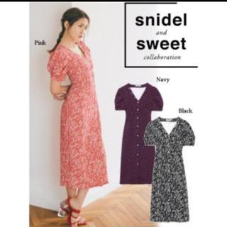 snidel - フラワーパターンタイトワンピース