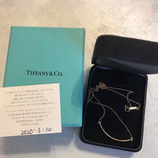 Tiffany & Co. - ティファニー スマイル ネックレス スモール ダイヤ ローズゴールド