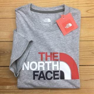 THE NORTH FACE - 新品【メンズM】★ノースフェイス★人気のフロントロゴ半袖Tシャツ/グレー