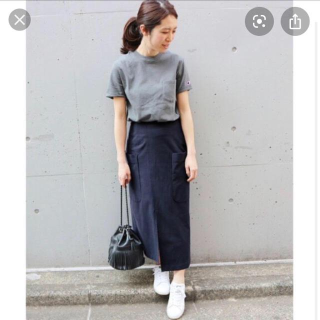 IENA(イエナ)のCu/Cビッグポケットアシンメトリースカート 34 レディースのスカート(ロングスカート)の商品写真