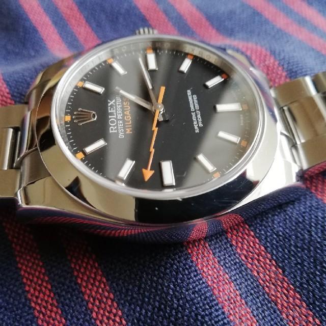 ROLEX(ロレックス)のROLEX ミルガウス 116400 黒文字盤 メンズの時計(腕時計(アナログ))の商品写真
