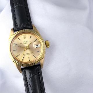ROLEX - 【OH済/仕上済】ロレックス デイトジャスト K18 金無垢 レディース 時計