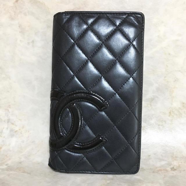 CHANEL(シャネル)の正規品 シャネル 財布 カンボンライン ココマーク ラム 革 マトラッセ レザー レディースのファッション小物(財布)の商品写真