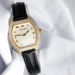 Cartier - 【保証書付】カルティエ トノー トーチュ K18 ダイヤ レディース 腕時計