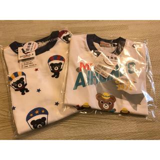 mikihouse - 新品 ミキハウス ダブルビー  半袖 Tシャツ セット