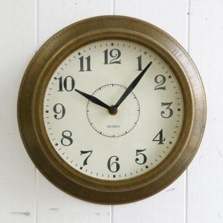 フランフラン(Francfranc)のアンティーク調 ブラス ウォールクロック 掛け時計 (掛時計/柱時計)