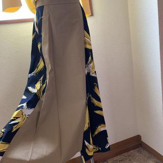 SCOT CLUB - 新品グランターブルスコットクラブバナナ柄切り替えミモレ丈スカート定価13800