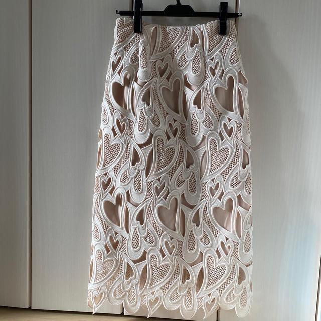 FRAY I.D(フレイアイディー)のCELFORD ハートレーススカート レディースのスカート(ロングスカート)の商品写真