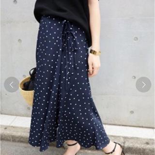 IENA - イエナ ライトデシンドットプリントスカート 34