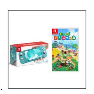 ニンテンドースイッチ(Nintendo Switch)のNintendo Switch ターコイズ どうぶつの森(家庭用ゲーム機本体)