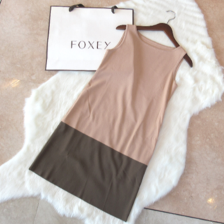 FOXEY - FOXEY NEWYORK フォクシー バイカラー ワンピース 38