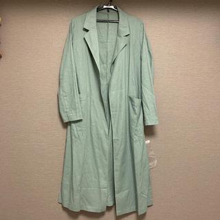 コウベレタス(神戸レタス)の【新品・未使用】綿麻ロングスリットジャケット(トレンチコート)