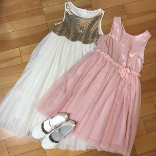 H&M - 【未使用・おまけつき】H&M ドレス2着 靴 3点セット