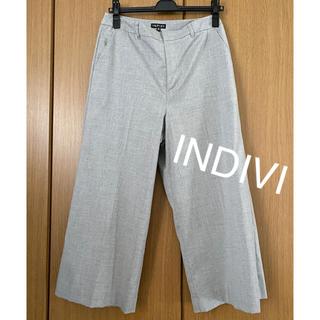 INDIVI - インディヴィ ワイドクロップド パンツ INDIVI