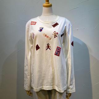 PINK HOUSE - カールヘルム 可愛いウインタースポーツのクマ刺繍入りTシャツです。