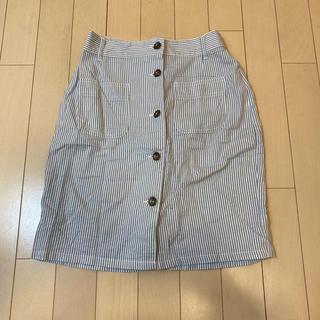エージープラス(a.g.plus)のagplus ストライプスカート(ミニスカート)