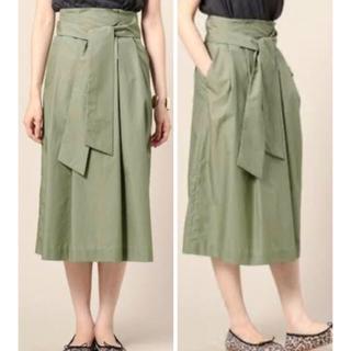 BEAUTY&YOUTH UNITED ARROWS - アッシュカーキ リボン・タイ付きスカート
