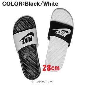 NIKE - 28cm ナイキ ベナッシ ミスマッチ ブラック&ホワイト