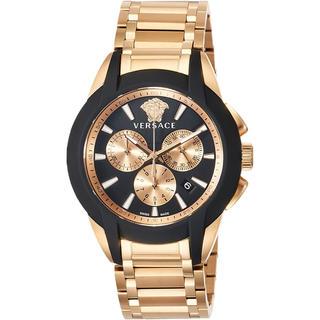 ジャンニヴェルサーチ(Gianni Versace)のVERSACE ヴェルサーチ 腕時計 正規品 本物 新品 メンズ ゴールド 箱付(腕時計(アナログ))