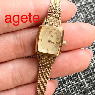 agete - 難ありですが稼働してます アガット agete  定番の腕時計 ダイヤ付