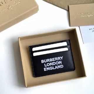 バーバリー(BURBERRY)の素敵 バーバリーBurberry カードケース ブラック 本革(名刺入れ/定期入れ)