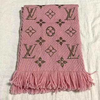 LOUIS VUITTON - ルイヴィトン ロゴマニア マフラー ピンク 美品!
