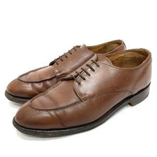 Lloyd Footwear ロイド Uチップ レザー シューズ 7 1/2 茶