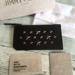 ジミーチュウ(JIMMY CHOO)の新品 ジミーチュウ カードケース コインケース カードホルダー スタッズ 黒色(コインケース/小銭入れ)