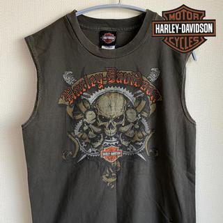 ハーレーダビッドソン(Harley Davidson)のハーレーダビッドソン タンクトップ ノースリーブ 90s   USA製 メンズ(タンクトップ)