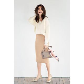 TOMORROWLAND - original❣️美品 定価6千 ミディ丈 スリットタイトスカート
