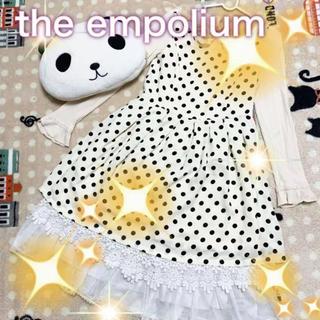 THE EMPORIUM - 美品♡THE EMPOLIUM/ドットワンピース/白/M