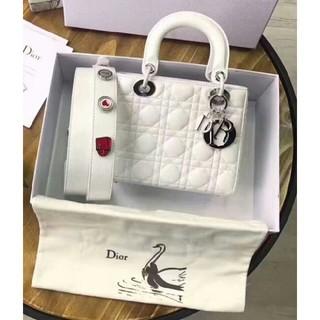 Christian Dior - 【超美品】Dior レディディオール ハンドバッグ 白